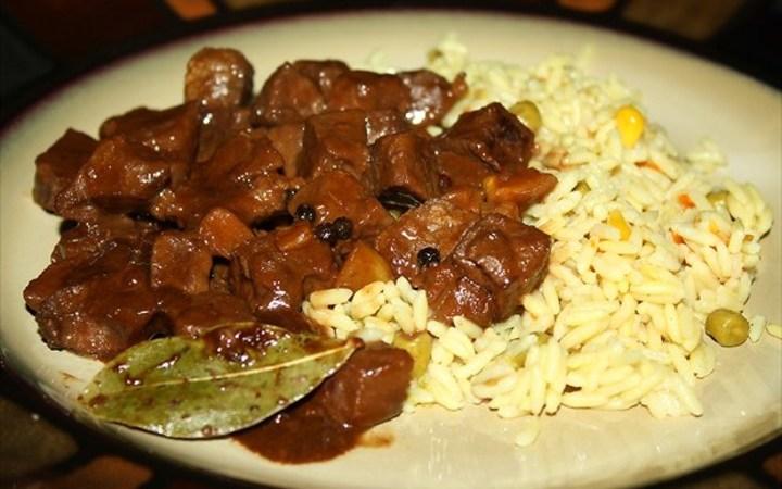 Filipino Beef Adobo With Coconut Milk Recipe Recipezazz Com