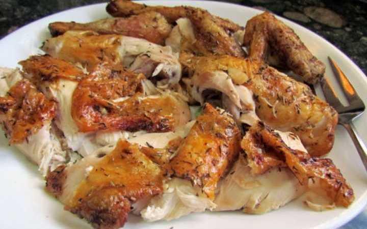High Heat Roasted Stuffed Whole Chicken Recipe Recipezazz Com