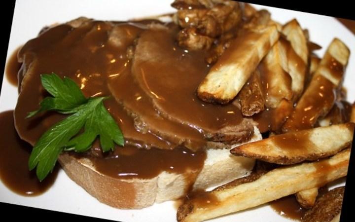 Super Easy Hot Roast Beef Open Face Sandwich Recipe