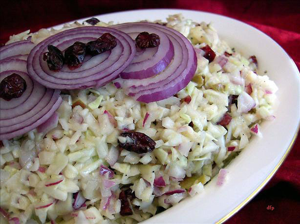 Coleslaw With Apples Amp Dried Cranberries Recipe
