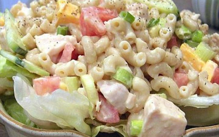 Chicken Macaroni Salad Recipe Recipezazz Com