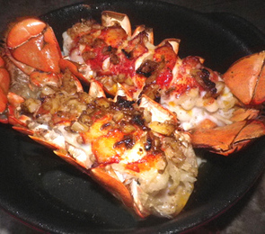 Lobster Tails With Lime Chili Garlic Butter Recipe Recipezazz Com
