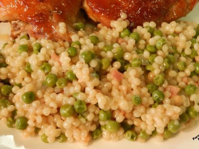 Parmesan Peas Pearl Couscous Recipe Recipezazz Com