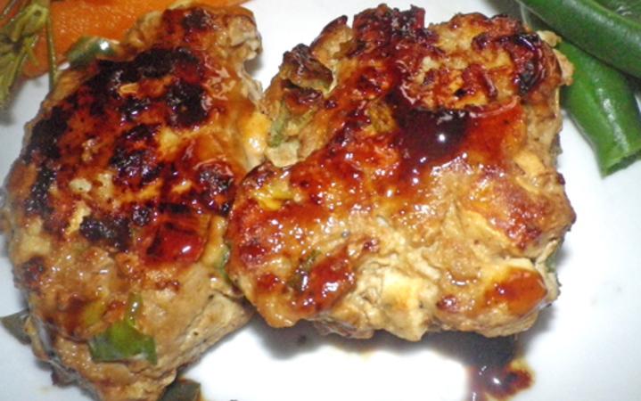 Japanese Teriyaki Glazed Chicken Tofu Meatballs Recipe Recipezazz