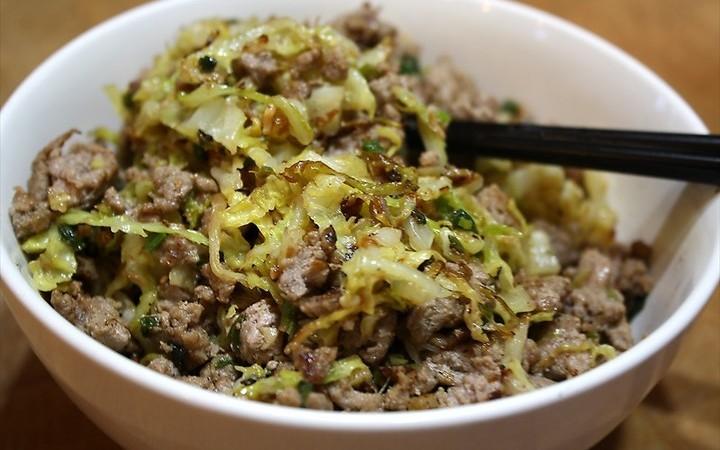 Ground Turkey Cabbage Stir Fry Recipe Recipezazz Com