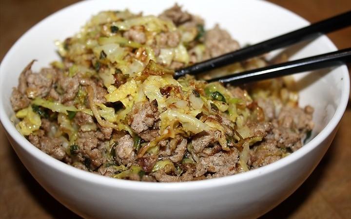 Ground Turkey Amp Cabbage Stir Fry Recipe Recipezazz Com