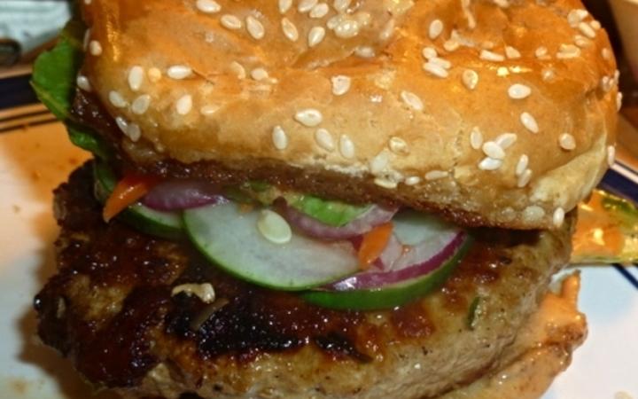 Asian pork burger recipe