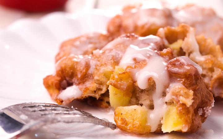 Glazed Apple Fritters Recipe Recipezazz Com