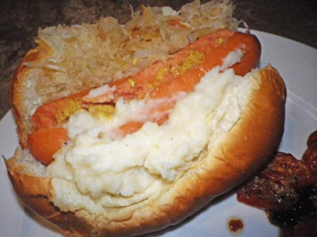 Hot Dogs Sauerkraut And Mashed Potatoes Recipe
