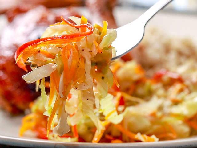 Jamaican Steamed Cabbage Amp Carrot Recipe Recipezazz Com