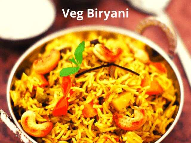 Vegetable Biryani Recipe Recipe Recipezazz Com
